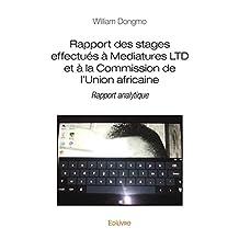 Rapport des stages effectués à Mediatures LTD et à la Commission de l'Union africaine: Rapport analytique (Collection Classique)