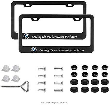 ephvan Auto Sport 2pcs License Plate Frames with Screw Caps Set Stainless Steel Frame Applicable to US Standard Cars License Plate Fit Car Accessories fit Benz