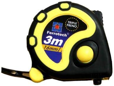 3/x 16/mm Giallo FERROTECH flessometro Tripla Freno di 3/Metri E 16/mm di Larghezza