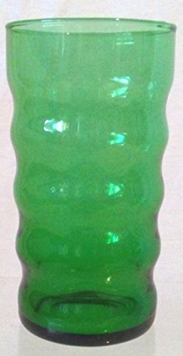 (Green Depression Glass, Green Glass Tumbler 4-3/4