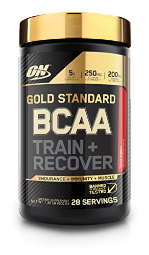 Optimum Nutrition Gold Standard BCAA, Fruit Punch, 28 Servings, Branched Chain Amino Acids, 5g BCAA blend