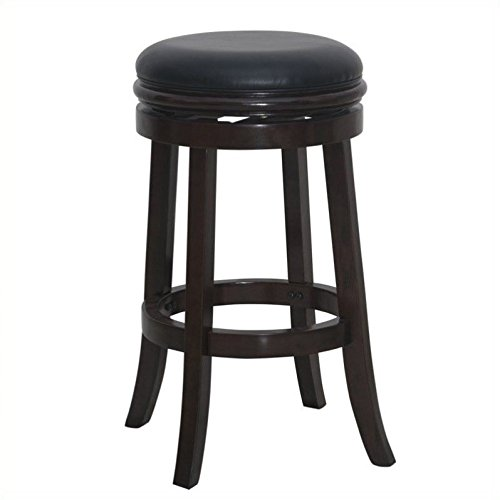 Stool Cappuccino Bar Finish (Boraam 44829 Backless Bar Stool, 30-Inch, Cappuccino)