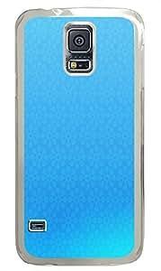 slim Samsung Galaxy S5 covers Blue Flowers PC Transparent Custom Samsung Galaxy S5 Case Cover