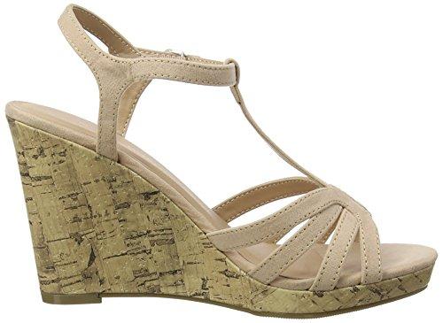 New Look Women's Paulo Open Toe Heels Beige (Oatmeal 14) yQ8Jn