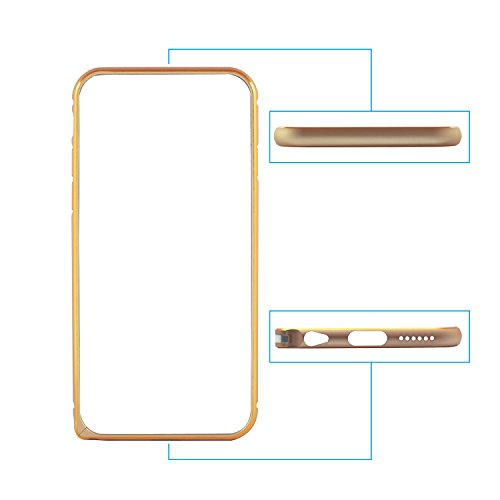 """iProtect Protection Frame Apple iPhone 6 Plus (5,5"""") Metall Bumper Schutzhülle gold"""