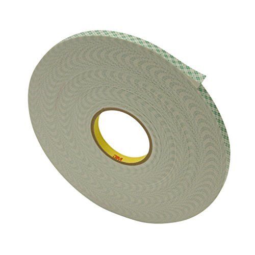 """3M 4016/OWHT0536 Scotch 4016 Double Coated Urethane Foam Tape: 1/16"""" Thick x 1/2"""" x 36 yd, Off/White"""