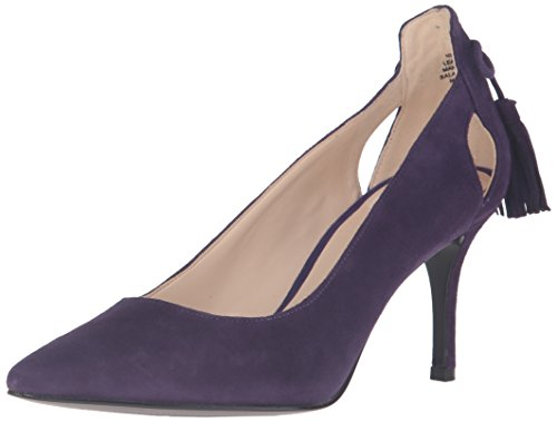 Nine West Womens Modesty Suede Dress Pump Dark Purple