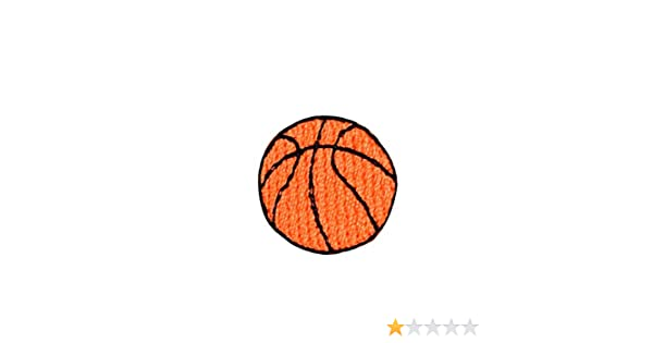 """Iron On Applique Embroidered Patch Small Orange Basketball 7//8/"""""""