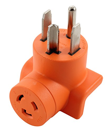 AC WORKS [AD1430L620] Dryer Outlet Adapter NEMA 14-30P 30Amp Dryer Outlet to L6-20R 20Amp 250Volt Locking Female Connector by AC WORKS (Image #7)