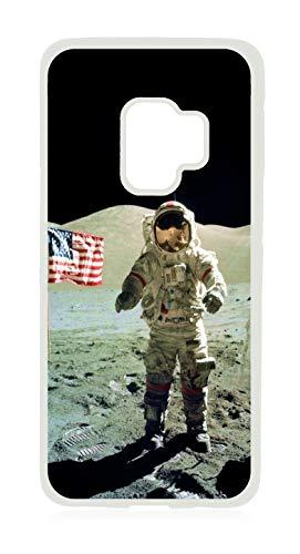(Apollo Astronaut on The Moon Design White Rubber Case for The Samsung Galaxy s9 - Samsung Galaxy s9 Accessories)