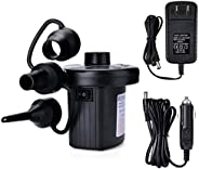Electric Air Pump Portable Quick-Fill Air Pump with 3 Nozzles Inflator/Deflator Pumps for Outdoor Camping, Inf