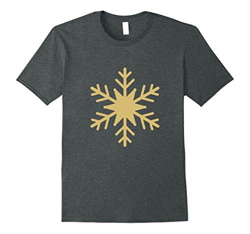 Mens SNOWFLAKE CHRISTMAS XMAS T-SHIRT [HOLIDAY FAMILY GIFT IDEA] XL Dark Heather Family Christmas Event Ideas