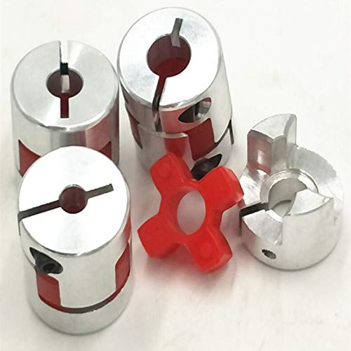Ochoos D25 L30 CNC Flexible Jaw Spider Plum Coupling Shaft Coupler 5//6//7//8//9//10//11//12mm Inner Diameter: 6X12