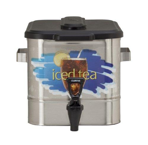 "Wilbur Curtis Iced Tea Dispenser 3.0 Gallon Tea Dispenser, Oval 9.25""H - Designed to Preserve Flavor - TCO308A000 (Each) - Oval Iced Tea Dispenser"