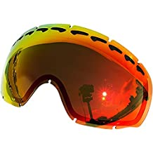 Zero Replacement Lenses For Oakley Crowbar Snow Goggle Red Mirror by Zero