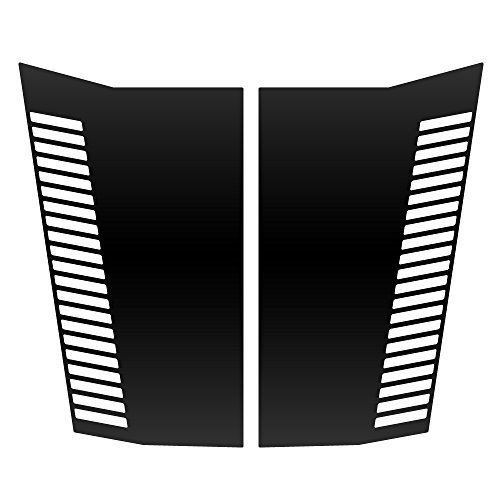 Chevy Trailblazer Hood - Auto Vynamics - CGM-701-VENTS-MBLA - Matte Black Vinyl Hood Decal Kit - Vents Design - Chevrolet / Chevy Trailblazer - Mirrored Pair - (2) Piece Complete Kit