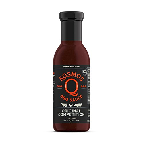 Kosmos Q Competition BBQ Sauce | Traditional Sweet & Smoky Flavor | Best Barbeque Sauce | Seasoning & Marinade | 15 Oz Bottle ()