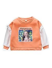 Zhengpin. Kids Baby Girls Cartoon Print Pullover Sweater Sweatshirts Long Sleeve Outerwear