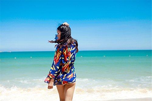 Cubre atractivo estampado leopardo batwing mangas playa bikini arriba Modelo de la pluma