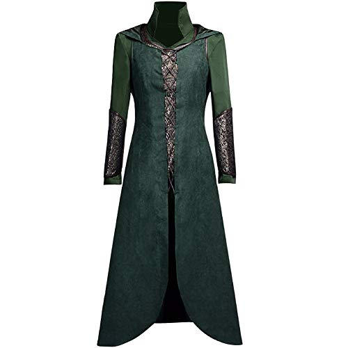 Tauriel Costume for Women, Deluxe Halloween Captain Cosplay Outfit Full Set (Large) Green