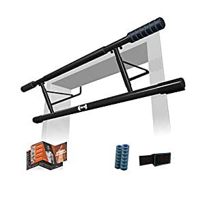 Well-Being-Matters 41it9QHFlfL._SS300_ 7DAYS Heavy Duty Total Upper Body Workout No Damage to Door Frame Pull Up Bar for Doorway - US Design, US Warranty (Fits…