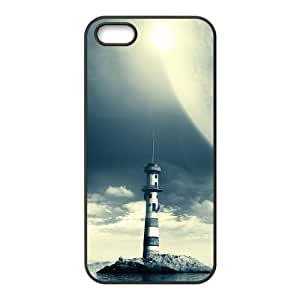 ALICASE Diy Customized Hard Case Lighthouse for iPhone 5,5S [Pattern-1]