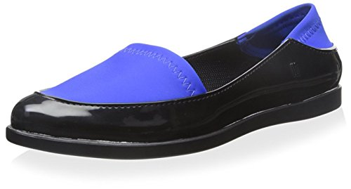 Melissa Women's Space Sport Flat Black Blue