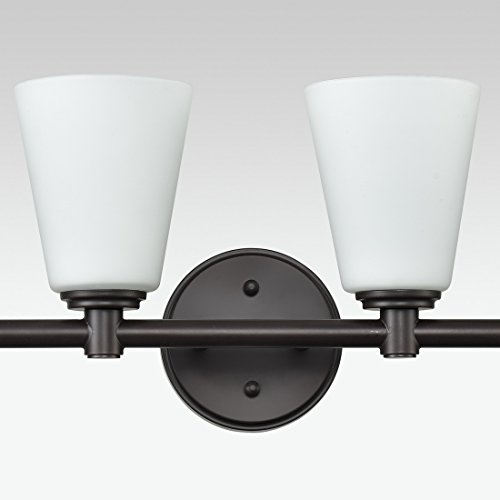 AXILAND Vanity Lighting 4 Light Oil Rubbed Bronze Wall Sconce with Opal Glass Shade by AXILAND (Image #5)