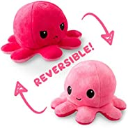 TeeTurtle | Reversible | Cute Mini Plushies | Light and Dark Pink Octopus | Squish Often - Cuddle Daily | Show Your Mood with