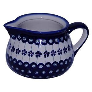 Boleslawiec Pottery Milk jug, 1.0 L, Original Bunzlauer Keramik, Decor 166a