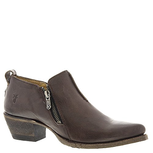 Frye Women's Sacha Moto Shootie Charcoal Smooth Vintage Leather Loafer 7.5 B (M) by FRYE