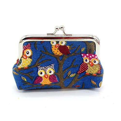 YJYdada Fashion Women Lovely Style Lady Small Wallet Hasp Owl Purse Clutch Bag (12cmX9cm, C) ()