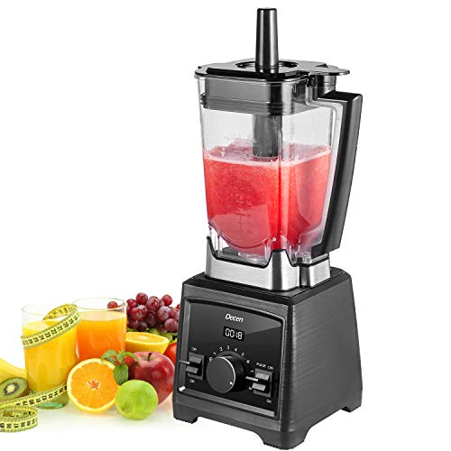 Decen Blender 1450W Professional High Speed Blender 25,00000rpm Commercial Smoothie Mixer Heavy Duty Food Processor for Ice, Soup, Mincemeat, Nut butter with 70oz Large Tritan Pitcher, Black