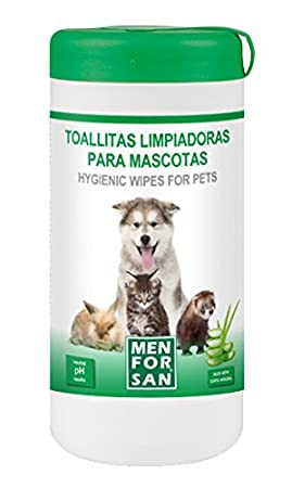 MEN FOR SAN M0286 Toallitas Limpiadoras Multiusos, 60 Unidades: Amazon.es: Productos para mascotas