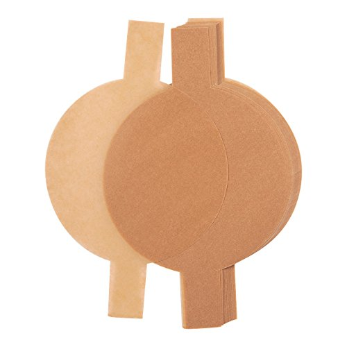 100 Count Unbleached Parchment Rounds - Parchment Liners with Easy Lift Tabs for 8-Inch Round Cake Pans, Unbleached Brown