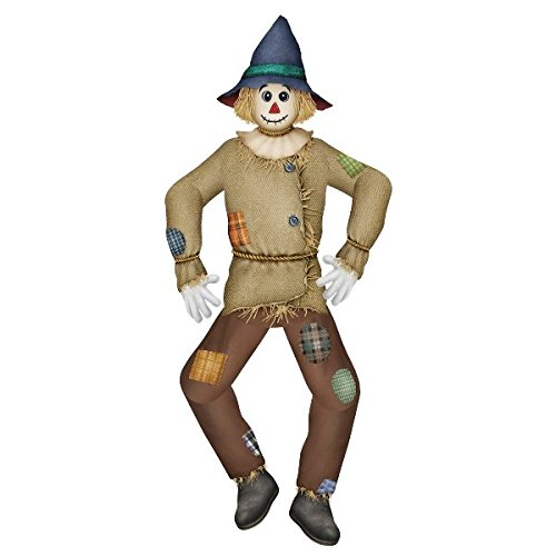 (Pack of 12 Vintage Jointed Scarecrow Thanksgiving Hanging Decorations 5')