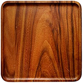 Amazon Com Acacia Wood Serving Tray For Breakfast In Bed