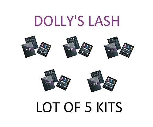 Dolly's Lash - 5 Kits Eyelash Perm Kit Brighten and Lift Eyelashes Lot Of 5 by Dolly's Lash