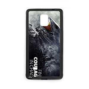 Samsung Galaxy Case Nota 4 protector Negro de Halo 5 Guardianes 25D Diseño Caja del teléfono V3X7XN