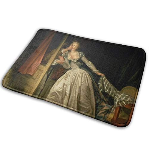 Omigge Bathroom Rug Mat (24 X 16 Inch) The Stolen kiss by Jean Honore fragonard,Extra Soft and Absorbent Rugs, Machine Wash/Dry,Floor Mats for Tub, Shower and Bath Room Bath Mat (The Stolen Kiss By Jean Honore Fragonard)