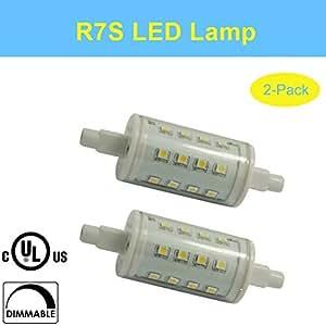 makergroup ul listed r7s dimmable led light j78 bulb 5 watt 120v inch 78mm. Black Bedroom Furniture Sets. Home Design Ideas