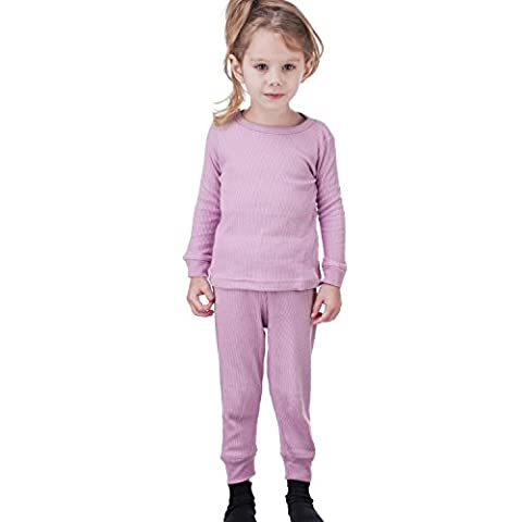 Zero Degree Infant-Girl Thermal Underwear Set (12M, Med Pink)