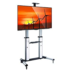 Mount Factory Heavy Duty Rolling Tv Stand