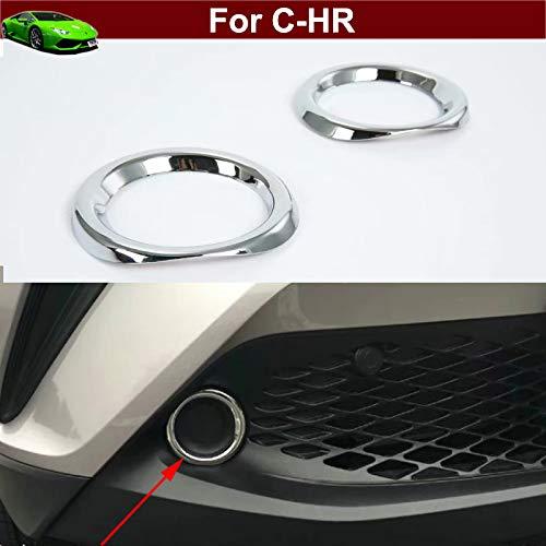 For Toyota Highlander 2017-2019 ABS Chrome Front Fog Light Lamp Cover Trim Frame