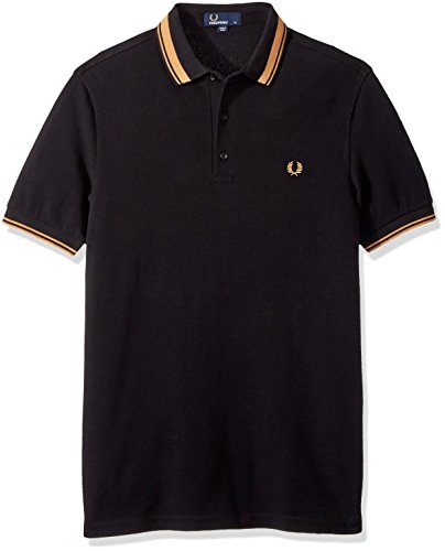 Polo Fred Black Contrast Authentics Perry Short Sleeved Tipped xqY14qZw