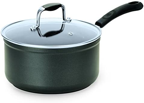 Ecolution Symphony Saucepan with Glass Lid, 1.5 quart, Slate
