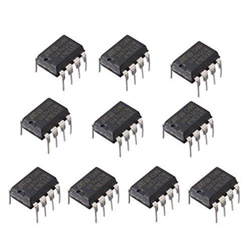 Op Amp Electronics (10Pcs UA741CN DIP-8 UA741 LM741 Operational Amplifiers OP AMP IC)