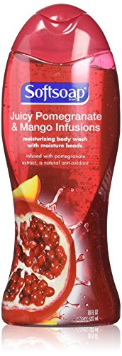 Softsoap Juicy Pomegranate & Mango Infusions Moisturizing Body Wash with Moisture Beads, 18 Ounce, (Pack of 3)