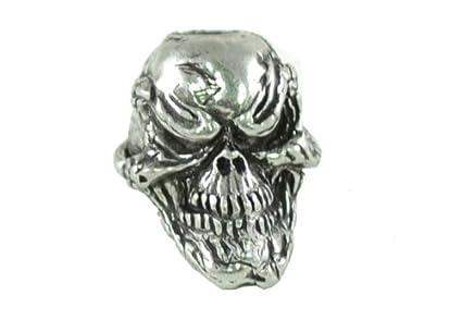amazon com gorilla paracord grins skull pewter bead 3 16 hole