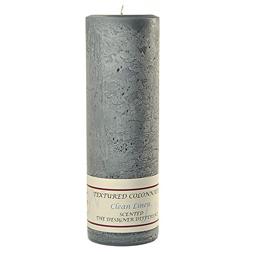 Orange Vanilla Pillar - Textured 3x9 Clean Cotton Pillar Candle For Wedding/Dinner, Holiday Event, Home Decoration, 90 to 110 hours, 3 in. diameterx9.25 in. tall, 1 Piece